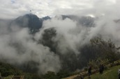 view from a look out point on trail up to Manchu Picchu